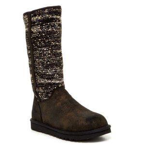 UGG Australia Camaya Metallic Sequin Gray Boots